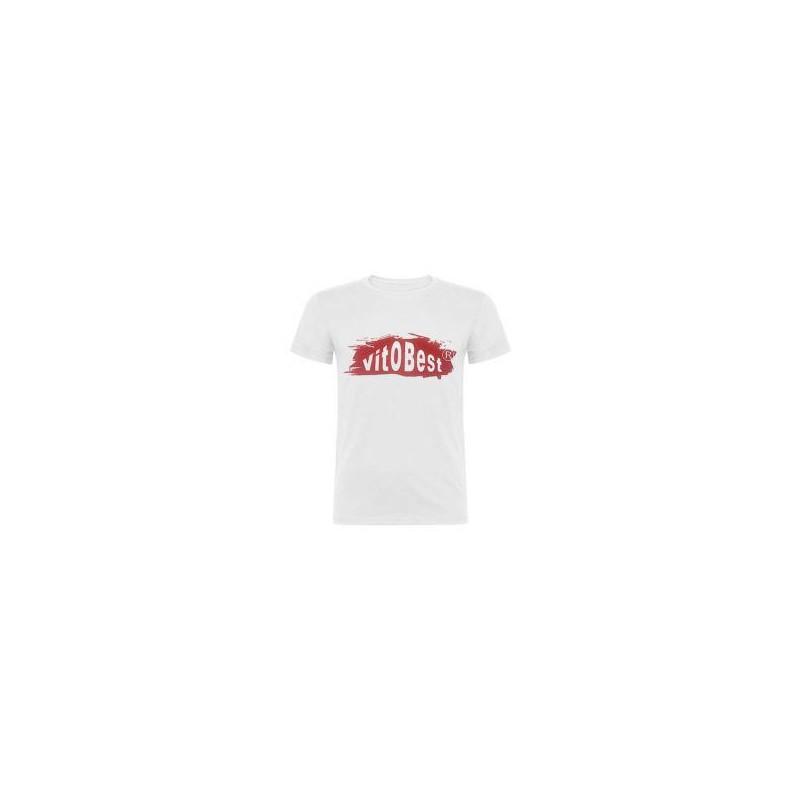 VitOBest Camiseta Manga Corta Hombre - Blanca y Ro