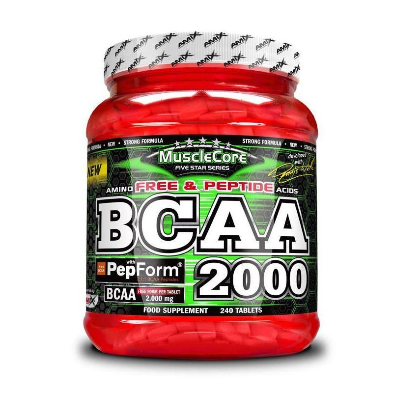 Amix Muscle Core BCAA 2000 with PepForm - 240 comp