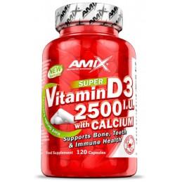 Amix Vitamina D3 2500 I.U + Calcio 120 caps